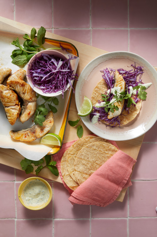 Baja-Style Grilled Fish Tacos