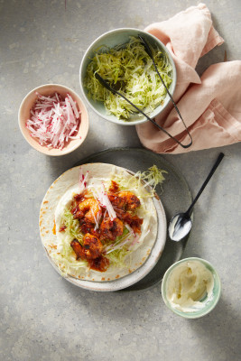 Tequila & Chipotle Prawn Tacos